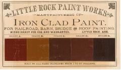 Little Rock Paint Works trading card of brown shades of paint