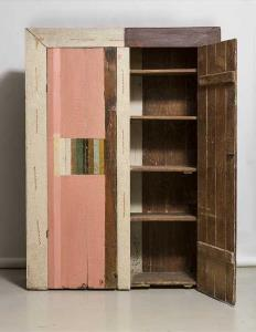 wooden colored cupboard