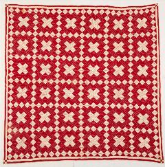 red and white cross quilt